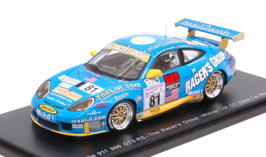 Porsche 996 gt3 RS th LM 2002 K. buckler-t. Bernhard-l. Luhr 1 43 Model s5517