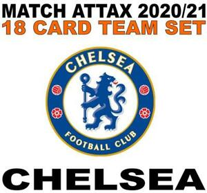 Match Attax Champions League 2020/21 CHELSEA 18 card team set