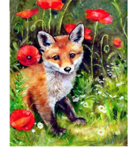 5D Fox papillon diamant Peinture par numéros cross stitch DECOR Arts Crafts