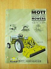 Mott Hammer Knife Mower Model Clb 60 For Cub Lo Boy Dealers Sales Brochure Ad