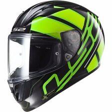 LS2 Men's ARROW Ion Fluo Green Full Face Racing  Motorcycle Helmet Size M Medium