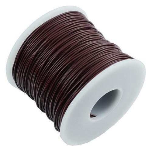 Marrón 0.25mm ² 7//0.2mm Encallado Cobre Cable Alambre 100M