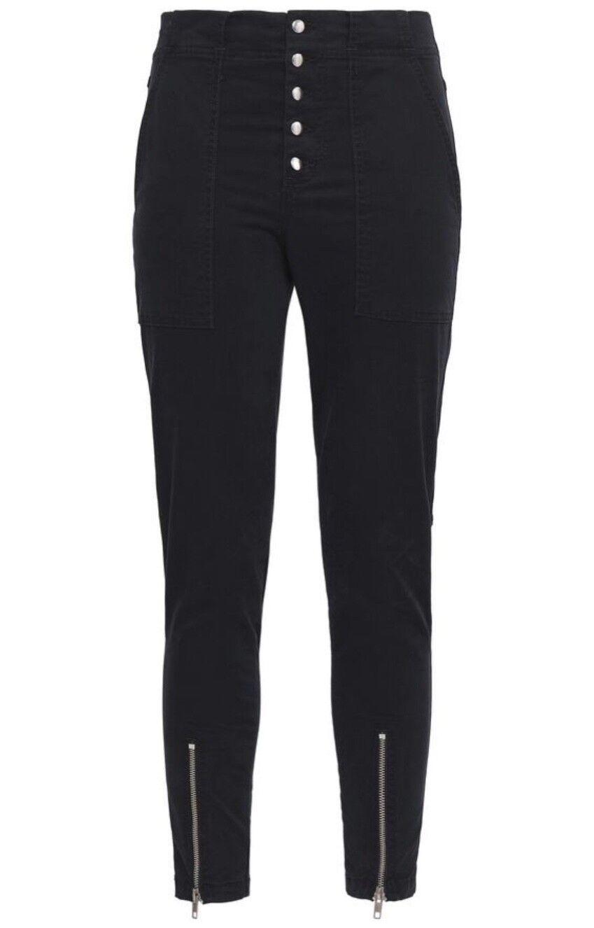 A.L.C. Ezra zip-detailed stretch-cotton twill skinny pants Größe 10  295