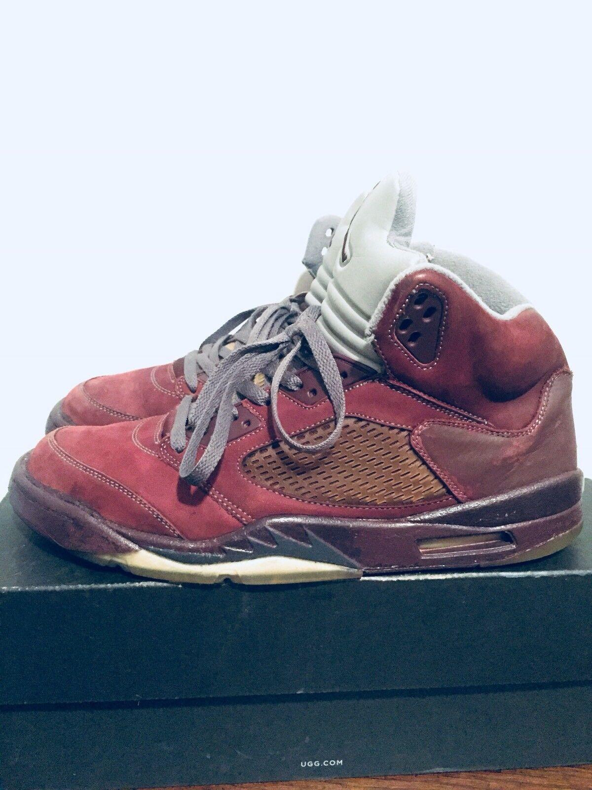 2006 Mens Nike Air Jordan V 5 Burgundy Graphite Silver Size 13 Used Rare OG