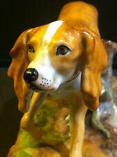 Superbe chien en porcelaine de Saxe - Meissen, Dresde.....