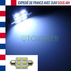 AMPOULE LAMPE NAVETTE C5W 36MM 12V 6 LED 5630 BLANC XENON INTERIEUR PLAFONNIER