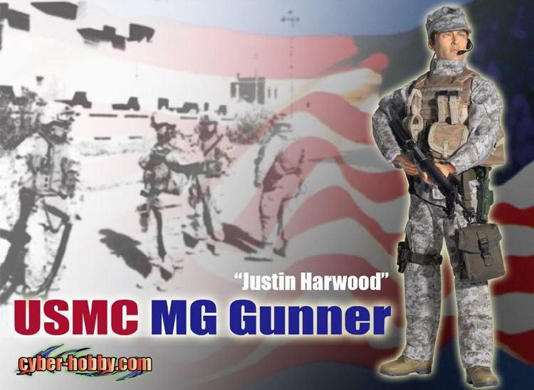 Dragon 70639 Cyber Hobby Justin Harwood United States Marine Corps MG Gunner 1 6 action figure