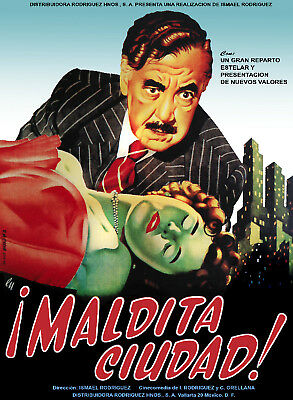 Spanish Movie POSTER.Stylish Graphics.Film NOIR Art.Great Room DECOR 78