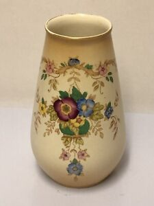 S-F-amp-Co-Crown-Devon-Fieldings-Rhyl-Pattern-Vase-Blush-Ware-c1914