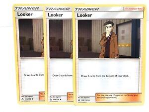 3x-Looker-126-156-Pokemon-Soleil-amp-Lune-Ultra-Prism-Trainer-Carte-NM