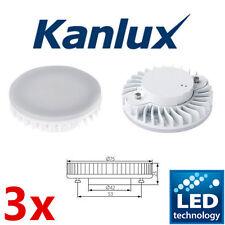3x LED 7w Bajo Ahorro De Energía Lámpara de perfil delgado de GX53 2 Pin Bombilla 6000k Bombillas de disco