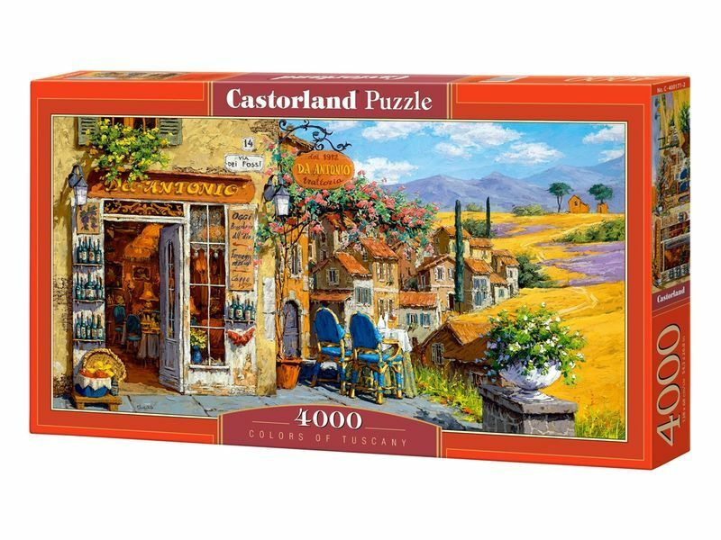 Castorland Puzzle 4000 Pieces - Colors of Tuscany - 54 x27  Sealed box C-400171