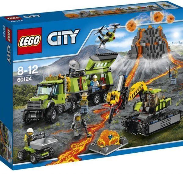 LEGO City (60124) Volcano Exploration Base (Brand New & Factory Sealed)