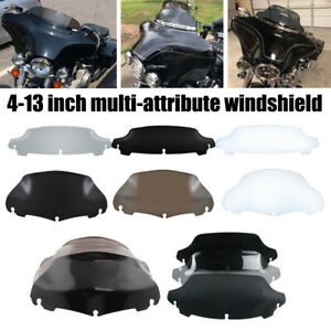 """4.5/"""" 6/"""" 7/"""" 8/"""" 9/"""" 10/"""" Wave Windshield Windscreen For Harley Touring Electra Glide"""