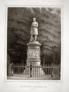 Berlin Au Tiergarten/luiseninsel: Le Friedrich Wilhelm Iii. - Monument Monument-afficher Le Titre D'origine Des Performances InéGales