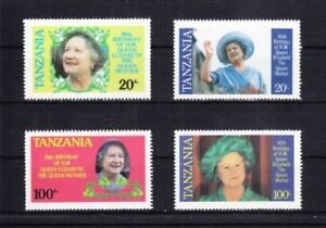 Section SpéCiale 5499-africa Serie Completa Tanzania Colonia Inglesa.85 Aniversario Reina Madre. Divers ModèLes RéCents