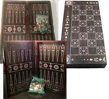 Yenigun Turkish Backgammon Set Game Case, Handmade Wood Board 15""