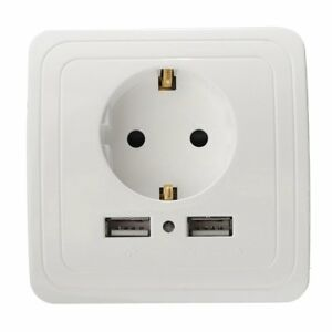 2-1A-Dual-USB-Ports-Wall-Charger-Adapter-EU-Plug-Socket-Power-Outlet-Panel-16A