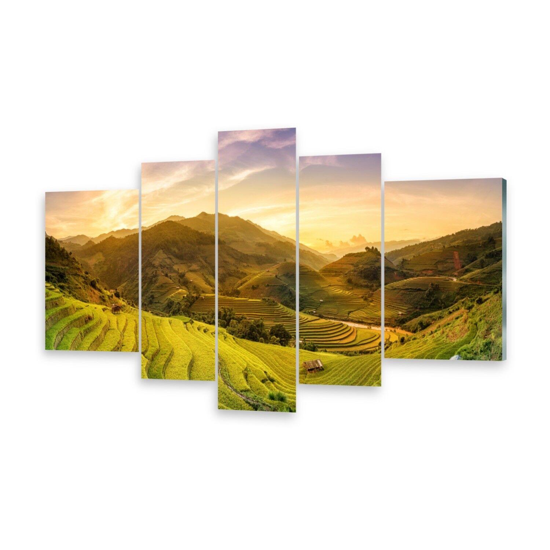 Leinwand-Bilder Wandbild Druck auf Canvas Kunstdruck Reisfelder