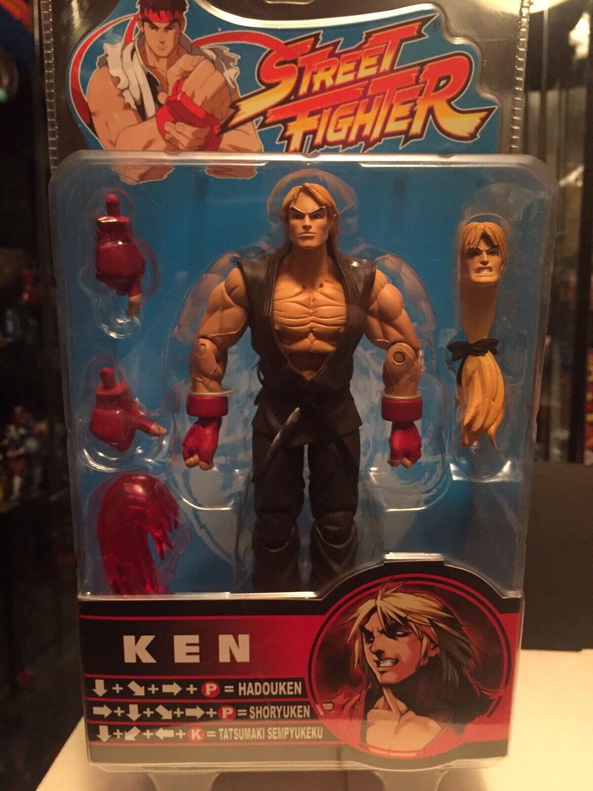 SOTA Street Fighter Capcom Ken Masters Round 2 Brown variant Action Figure