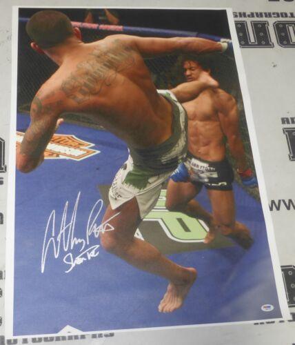 Anthony Pettis Signed UFC 20x30 Canvas Photo PSA//DNA COA WEC Showtime Kick Auto