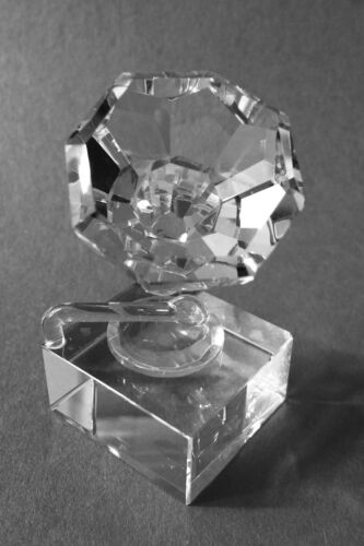 """Crystal Phonograph - Collectible Gift Approx 2.5/""""x 1.25 L"""