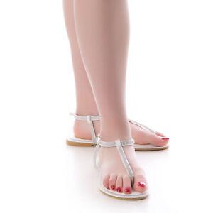 Caricamento dell immagine in corso sandali-donna-infradito -gioiello-tacco-basso-sandaletti-strass- 9720b5617cc