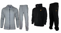 Mens Nike Grey And Black Hooded Full Tracksuit Joggers S - Xl Hoodie Pants