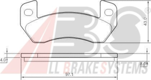 Bremsbelagsatz Scheibenbremse 37341 A.B.S