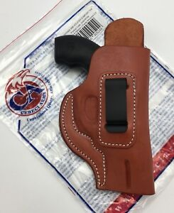 Details about Cebeci IWB Brown Leather Holster w/ Comfort Tab, S&W J Frame  up to 2 5