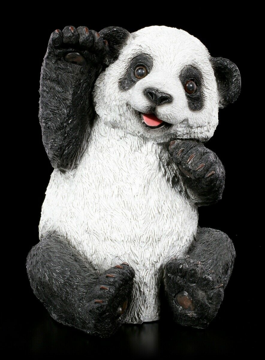 Figura de Jardín - Panda Agitando - Baby Decoración Estatua Oso