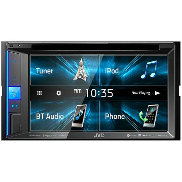 """JVC KWV250 2-DIN 6.2"""" Touchscreen Multimedia DVD/CD Receiver with Bluetooth"""