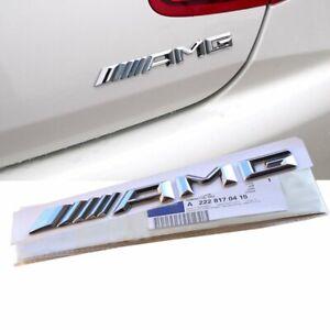For Chrome AMG Emblem Badge Rear Trunk Decal A B C E S CL SL ML CLK CLS SLK