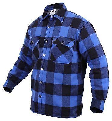 Rothco Buffalo Plaid Sherpa Lined Jacket, 3X, Blue/Black
