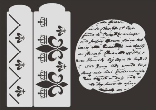 Stencil TO-004 Brief ~ UMR Torten Schablone