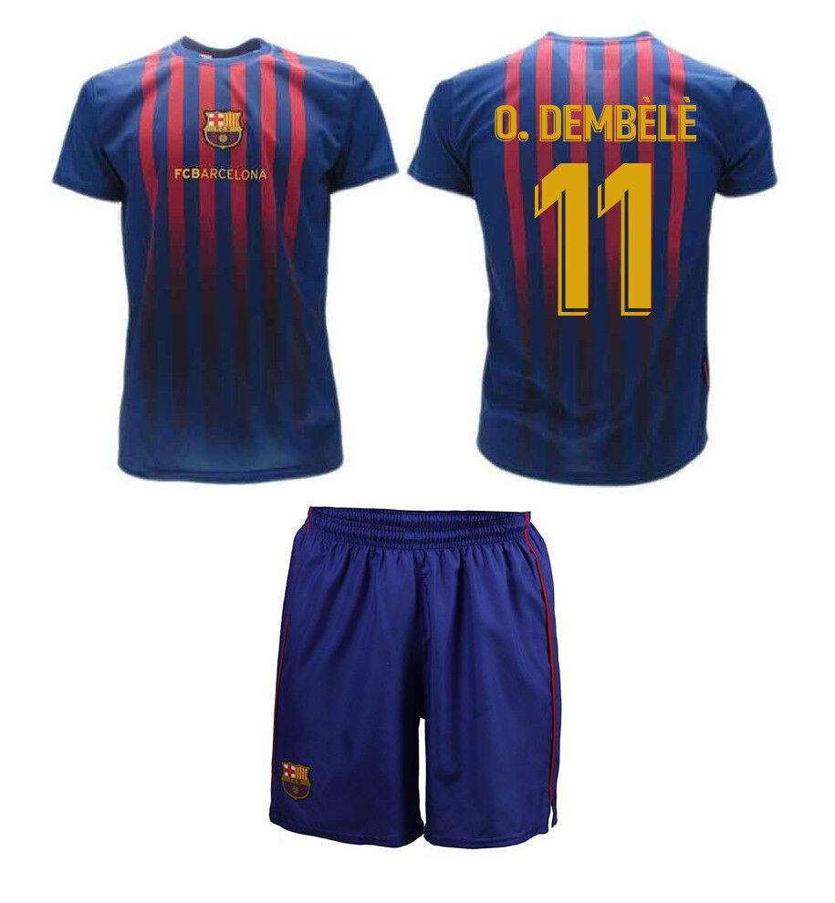 Completo Maglia  + Calzoni Calcio DEMBELE OUSMANE Ufficiale Barcellona 2019 BARCA  calidad de primera clase