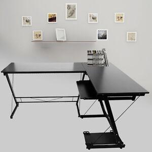 L-forme-en-bois-Bureau-d-039-ordinateur-portable-Workstation-Table-travail-Meubles