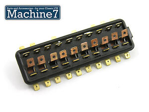 classic vw beetle wiring fuse box 10 point for fuses bug 1966 1971image is loading classic vw beetle wiring fuse box 10 point
