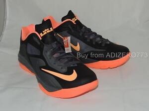 499c93feec Nike LeBron ST III XDR Black Punch Mango Grey Basketball Shoes ...
