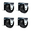 combo solutions caster wheels for trundle bed steel zinc frames pack of 4