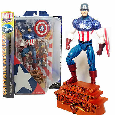 Hilfreich Marvel Select Captain America Liberty Justice Classic Action Figures Kids Toy üBerlegene Materialien