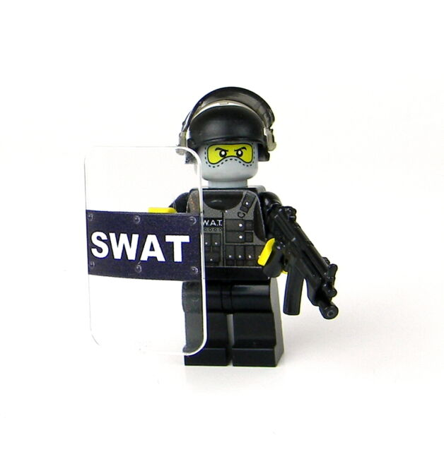 Custom Lego(r) Police SWAT Officer Minifigure With Riot Shield | eBay