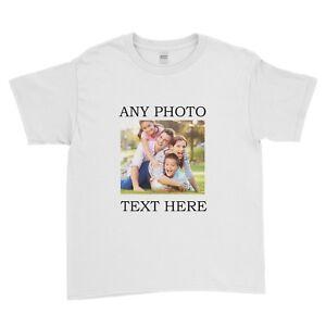 Personalised-T-Shirt-Custom-Your-Image-Printed-Kids-T-Shirt-Children-Text-Photo