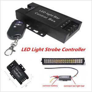12 24v Led Light Bar Battery Box Flash Strobe Controller With