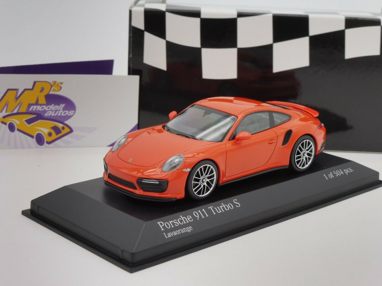 Minichamps 410067171 PORSCHE 911 (991.2) TURBO S manufactured in 2016  orange  1 43