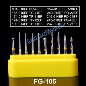 50 kits dental FG Diamond Burs Ceramic Composite Polishing kit Fg-105 Azdent