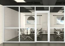 Cgp Office Partition System Glass Aluminum Wall 12x9 Withdoor White Semi
