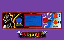 GYRUSS ARCADE CONTROL PANEL OVERLAY purple background