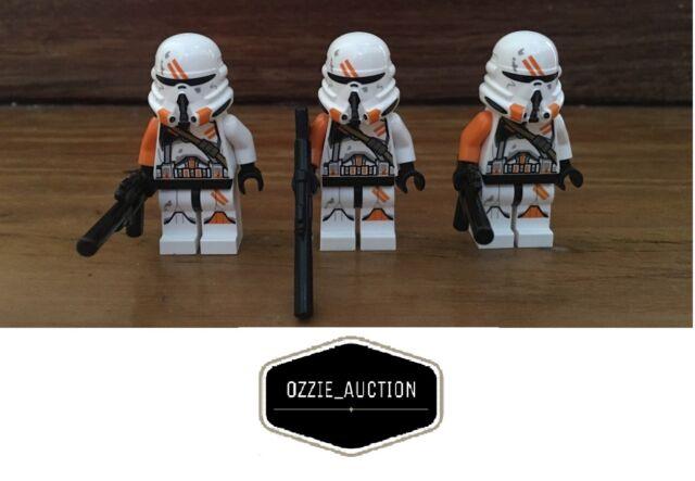 Lego Star Wars lot of 3 - 212th Airborne Clone Trooper Minifigure [75036]