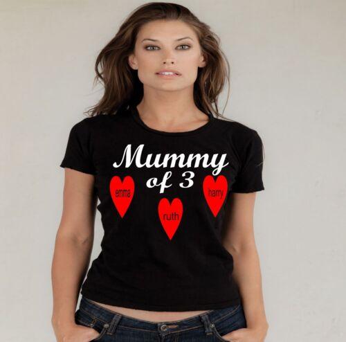Momie de kids fantastique personnalisé t shirts fête mères petit à 3XL